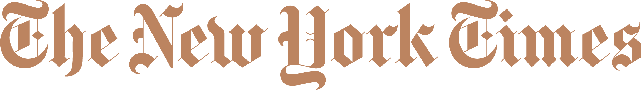 The New York Times brown logo